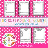 Kinderbykim's First Day of School Drawings Freebie