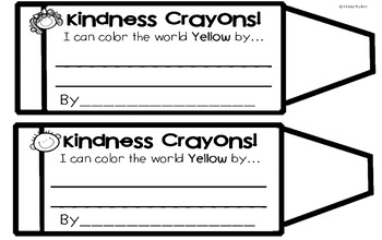 Kinderbykim's Kindness Crayons  and Shades of Kindness Freebie