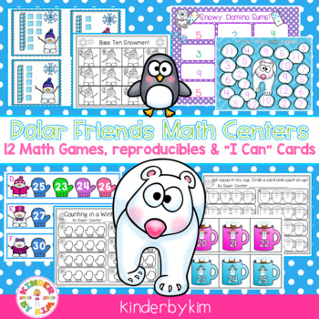Kinderbykim's  Polar Bear Friends Math Centers