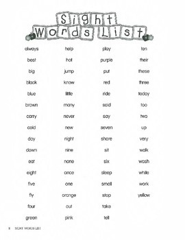 Kinderbykim's Sight Word Books