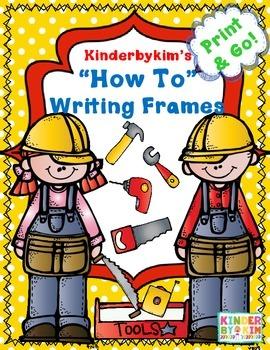 "Kinderbykim's ""How To"" Writing Frames"