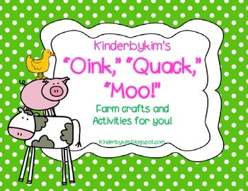 Kinderbykim's Oink! Quack! Moo! Patterns and activities on for the farm