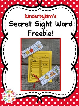 Kinderbykim's Secret Sight Word Freebie!