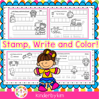 Kinderbykim's Stamp, Write and Color!