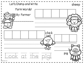 Kinderbykim's Stamp, Write and Color!