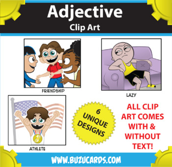 Kindercade Clipart: Adjectives!
