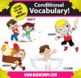 Kindercade: Conditional Vocabulary Clipart: Part Two!