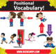 Kindercade: Positional Vocabulary and Spacial Concept Clipart!