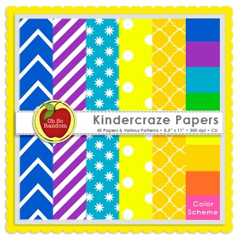 Kindercraze {Papers for Commercial Use}