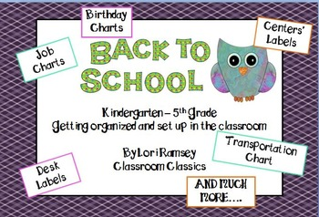 Kindergarden - 5th Grade Back to School Organizing Tips and Printables