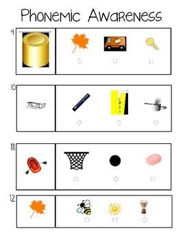 Kindergarten Test Practice (K test prep)