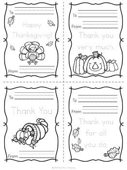 Kindergarden Thanksgiving Lessons