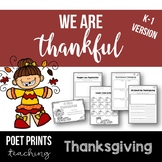 Kindergarden Thanksgiving Lessons