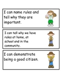 "Kindergaren Florida Social Studies Standards in ""I Can"" Language"