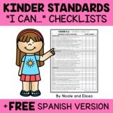 Kindergarten Common Core Standards I Can Checklists 1
