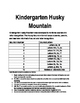 Kindergarent Homework identify letters, sounds, and sight words