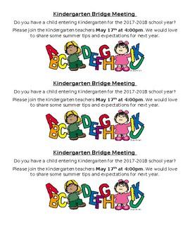 Kindergaretn Roundup Letter to Parents