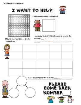 Kindergarten 0-20 Number Poster with ten Frames