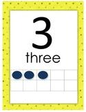 Kindergarten 0-20 Number Poster with ten Frames