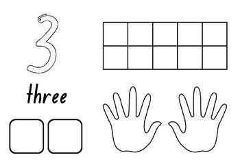 Kindergarten 1-10 number activity sheets - 10 minute activity