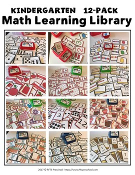Kindergarten-12-Pack-Math-Learning Library (Lock-Top-Storage Suggestion)