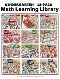 Kindergarten-12-Pack-Math-Learning Library (Lock-Top-Stora