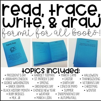 Read, Trace, Write, & Draw Throughout the Year! K, 1st
