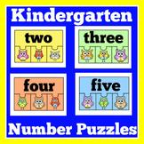 Kindergarten Math Centers Puzzles