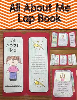 Kindergarten, 1st, 2nd grade All About Me Lapbook!