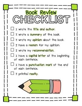 Kindergarten & First Grade Benchmark Literacy Writer's Workshop Checklists