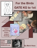 Kindergarten Bird-Themed Challenges for Gifted and Talented GATE - Storytelling
