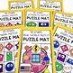 Kindergarten, 1st Grade, 2nd Grade Math Phonics Activities Puzzle Mats Bundle