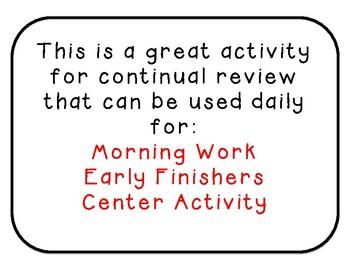 Kindergarten 1st Grade Daily Morning Math