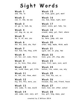 Kindergarten & 1st Grade High Frequency Sight Word Practice Packet - 138 Words