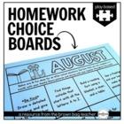 Kindergarten & 1st Grade Homework Choice Boards: Play/Experience Based Choices
