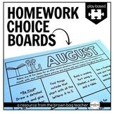 Kindergarten & 1st Grade Homework Choice Boards (EDITABLE)