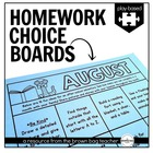 Kindergarten & 1st Grade Homework Choice Boards: Play/Experience Based Choices