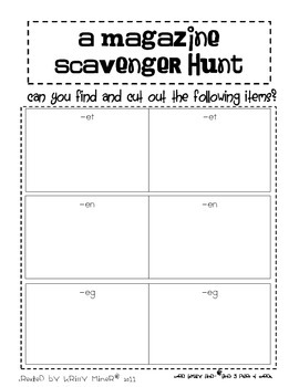 Kindergarten 1st Grade Literacy Centers Ready to Go: Magazine Hunts