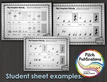 Kindergarten/1st Grade Music Lesson  - Pitch/Melody Composition - Pumpkin Stew