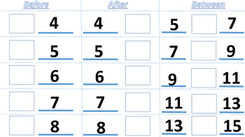 Kindergarten & 1st Grade-Number Sense Vocabulary