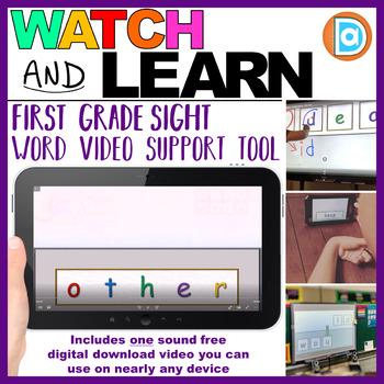 Kindergarten & 1st Grade RTI | Sight Word Builder Video Intervention Tool |Other