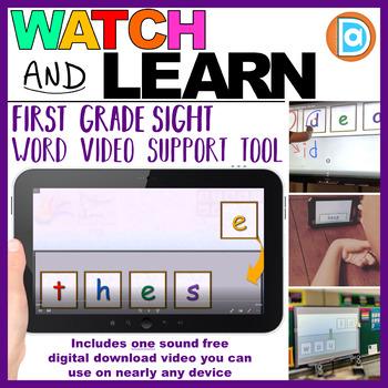 RTI | Kindergarten & First Grade Sight Word Fluency Tool | These