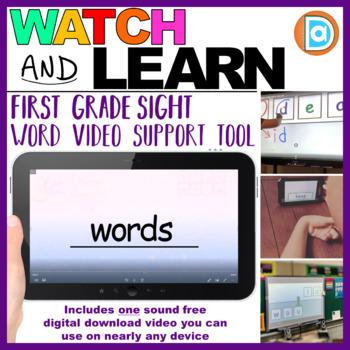 RTI | Kindergarten & First Grade Sight Word Fluency Tool | Words