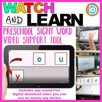 Kindergarten & 1st Grade RTI | Sight Word Building Intervention Tool | You