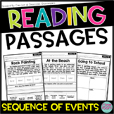 Kindergarten & 1st Grade Reading Sequence of Events Passag