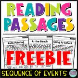 Kindergarten & 1st Grade Reading Sequence of Events Passages SET 2 - FREEBIE!!