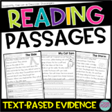 Kindergarten & 1st Grade Reading: Text-Evidence Passages SET 3