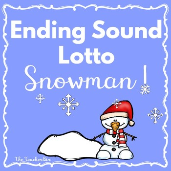 Kindergarten- 1st Grade-Special Education-Ending Sound Lotto Game