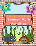 Kindergarten & 1st Grade Summer Math Activities and Games