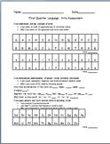 Kindergarten  1st Quarterly Assessment w/ Common Core I Ca